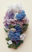 Beaded Cascade Bridal Bouquet by EverAfterArtisanry