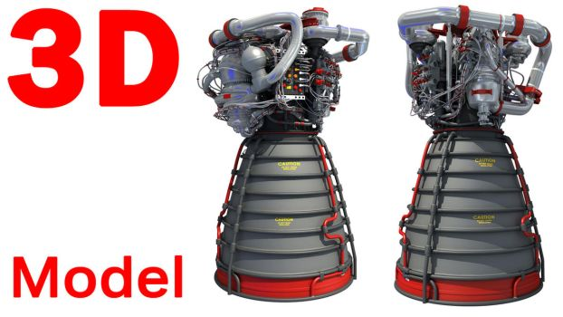 RS-25 3D Models - Engine 3D Models by Gandoza