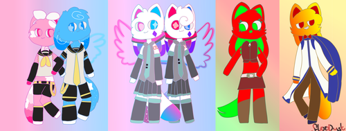 Kittydog as vocaloids (gift for kittydog) by FloofDust