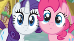Pinkie Pie and Rarity Staring by ShelltoonTV