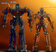 Causeway's Height Compared to Optimus Prime by ElitaOneArts