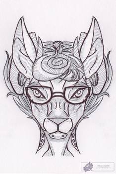 Deer inks by HellCharm