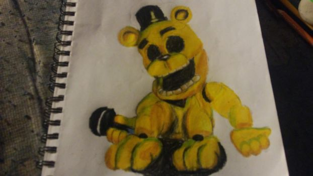 fnaf world golden freddy by Th3Tur3GodMrbl3ach