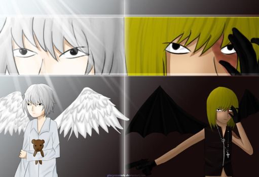 Deathnote-Angel and Devil by GlacyRoserade