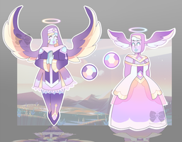 [CLOSED] Gem Auction Adopt: Angel Aura Quartzes by PersonificationMaker