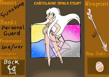 Sunstone - Application for Chatelaine Opal's Court by Natidot