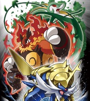 Evolved Unova Starters by Digimaster14