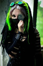 Neongreen Cybergoth by mysteria-violent