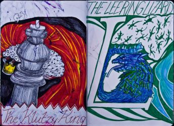 The Sketchbook Project 2013 - K and L by Nakilicious