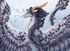 Feathered Mist ACEO trade by Penny-Dragon