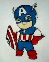 2012 drawing - Captain America :) by nielopena