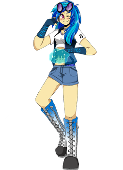 DJ PON-3 Vinyl Scratch Human by loveyourinnergeek