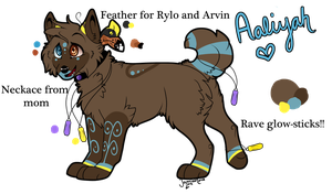 Aaliyah Ref 2012 - RavinexRylo Daughter by LittleRavine