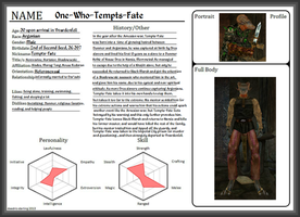 Morrowind Character Sheet - Tempts-Fate by AedricDaedra