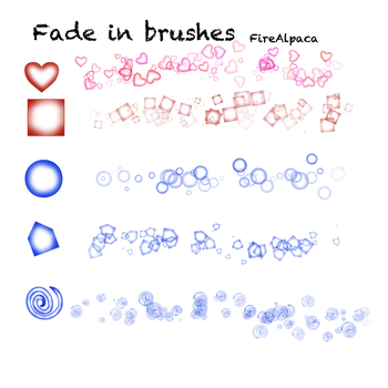 Fade in brushes FireAlpaca by Mo-fox