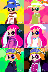 Inkling Oc's by Charchu-Devin