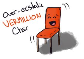 Over-ecstatic Vermillion Chair - Tableau by Saza-Productions