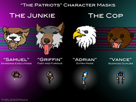 The Patriots Character Masks by THELEGOMack