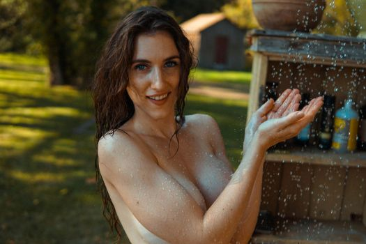 Outdoor Shower at the cottage! by piperblush