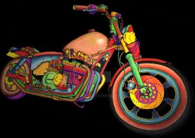 Mac's Bike (colour) Blk by andyplfc