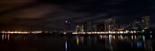 Manila Bay at Night by alpreddd