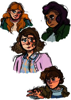 drawing real people practice with the ST girls by logancecil