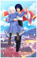 Howl+Sophie- Swept off my Feet by YoukaiYume