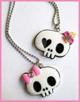 Cute Skull Necklaces by cherryboop