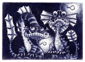 Sea Monsters by Onanymous