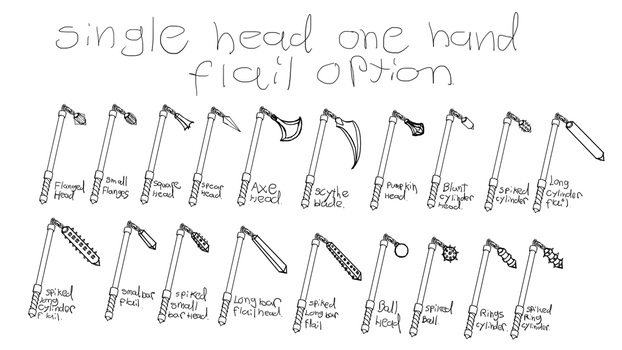 Weapons ideas one hande flail by draks