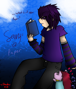 Request 3: Sanji and Paper the Dragon by Shadow-Rukario