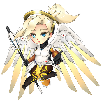 Mercy Chibi by Cristal-Zhaduir