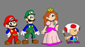 Nintrendodude's Super Mario Quest main cast by JorDanGo