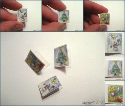 Miniature Holiday Cards by Maylar