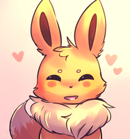 Little Eevee by honrupi