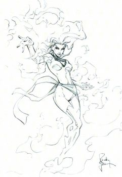 Dark Phoenix con sketch 3 by RandyGreen