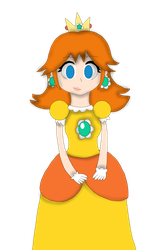 Princess Daisy with shaded, without background by Maggie-Dash
