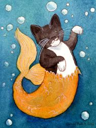 The Amazing Mermaid Cat by matildarose