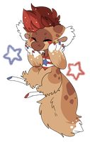 4th of July Waffle DTR by Pompabeans