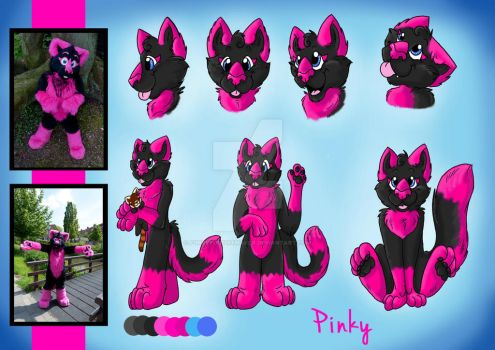 Pinky - Reference Sheet by FurryFursuitMaker