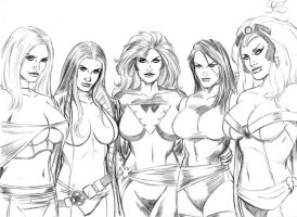 X-Girls of the X-Men by Spears by markman777