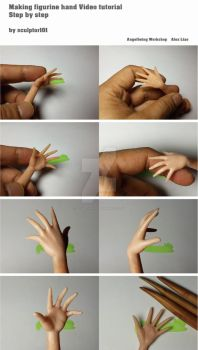 Making figurine hand Video tutorial by sculptor101