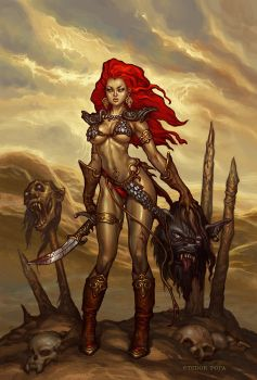 Red Sonja by TudorPopa