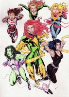 DC and Marvel girls by gregohq