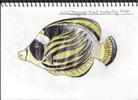 Diagonal-Lined Butterfly Fish by Fantasy-and-Fiction