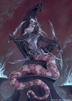Drow Marilith (aka Type V Demon) by SpiralMagus