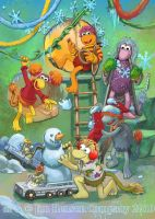 Jim Henson Holiday card 2010 by lazesummerstone