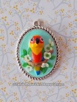Jenday Conure Pendant by emmil