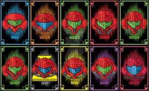 Metroid Helmets by Vic-Neko