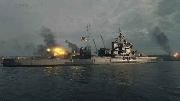 HMS Warspite at dunkirk by Admiral-Kevin